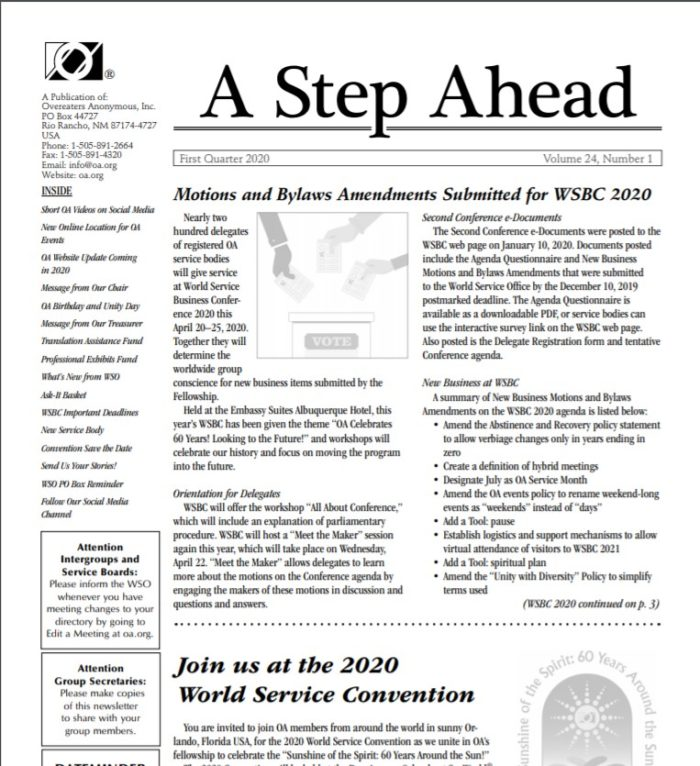 A Step Ahead Q1