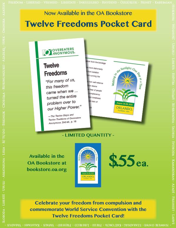 Twelve Freedoms downloadable flyer
